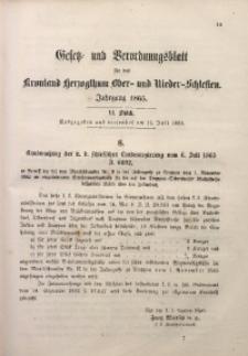 Gesetz- und Verordnungsblatt für das Kronland Herzogthum Ober- und Nieder-Schlesien, 1866, St. 6