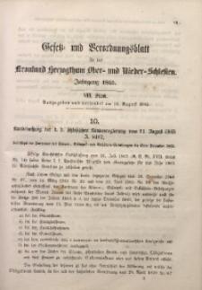 Gesetz- und Verordnungsblatt für das Kronland Herzogthum Ober- und Nieder-Schlesien, 1866, St. 8