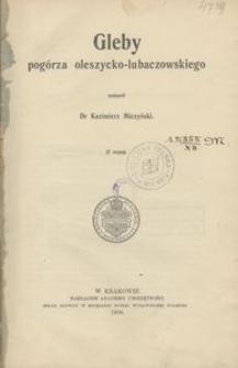 Gleby pogórza oleszycko-lubaczowskiego