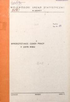 Wykorzystanie czasu pracy w 1979 roku