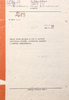 Wyniki spisu rolniczego 1982 w zakresie użytkowania gruntów, powierzchni zasiewów oraz zwierząt gospodarskich