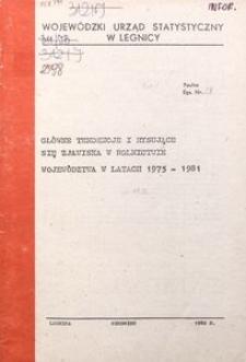Główne tendencje i rysujące się zjawiska w rolnictwie województwa w latach 1975-1981