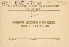 Budownictwo mieszkaniowe w województwie legnickim w latach 1975-1983