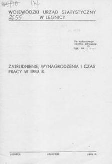 Zatrudnienie, wynagrodzenia i czas pracy w 1983 roku