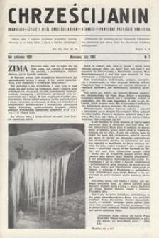 Chrześcijanin, 1963, nr 2