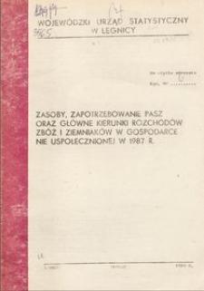 Zasoby, zapotrzebowanie pasz oraz główne kierunki rozchodów zbóż i ziemniaków w gospodarce nie uspołecznionej w 1987 r.