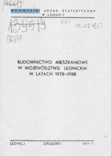 Budownictwo mieszkaniowe w województwie legnickim w latach 1978-1988