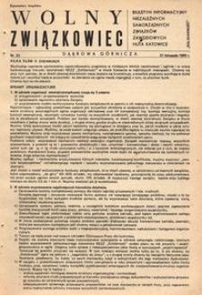Wolny Związkowiec, 1980, nr 23