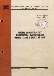 Podział administracyjny województwa wałbrzyskiego według stanu z dnia 2 VII 1976