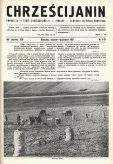 Chrześcijanin, 1962, nr 9-10