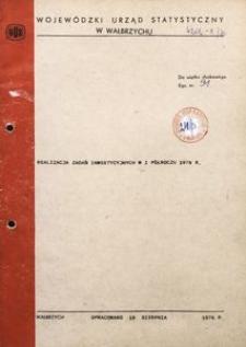 Realizacja zadań inwestycyjnych w I półroczu 1976 r.