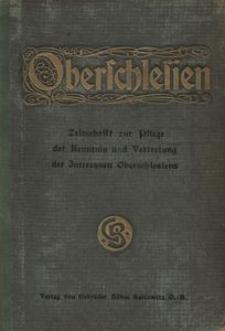 Oberschlesien, 1902, Jg. 1, Inhalts Verzeichnis des I. Jahrganges