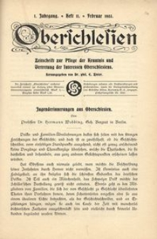 Oberschlesien, 1903, Jg. 1, H. 11