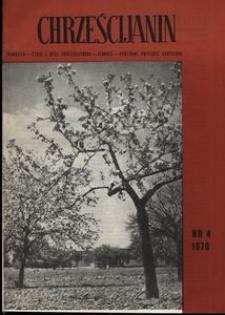 Chrześcijanin, 1970, nr 4