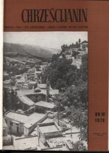 Chrześcijanin, 1970, nr 10