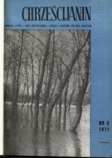 Chrześcijanin, 1971, nr 3