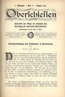 Oberschlesien, 1903, Jg. 2, H. 5