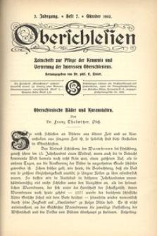 Oberschlesien, 1903, Jg. 2, H. 7