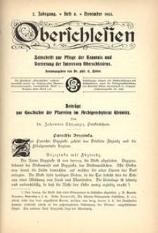Oberschlesien, 1903, Jg. 2, H. 8