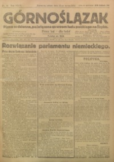 Górnoślązak, 1924, R. 23, Nr. 63