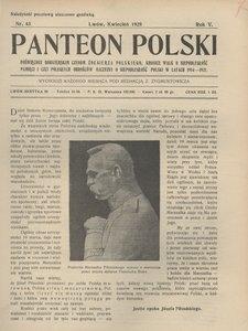 Panteon Polski, 1928, R. 5, nr 43