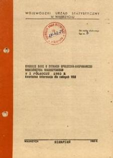 Wybrane dane o sytuacji społeczno-gospodarczej województwa wałbrzyskiego w I półroczu 1983 r. Kwartalna informacja dla radnych WRN