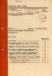Realizacja zadań planowych w rolnictwie w I półroczu 1983 r.