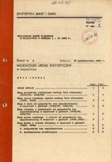 Realizacja zadań planowych w rolnictwie w okresie I-IX 1983 r.
