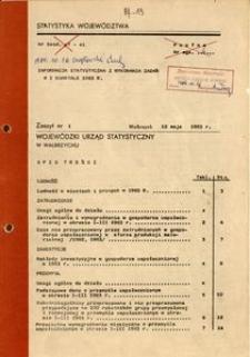 Informacja statystyczna z wykonania zadań w I kwartale 1983 r.
