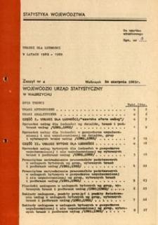 Usługi dla ludności w latach 1981-1982