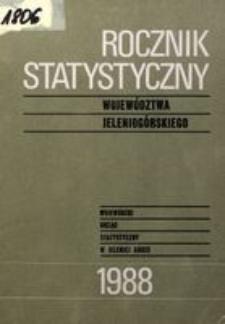 Rocznik Statystyczny Województwa Jeleniogórskiego, 1988, R. 11