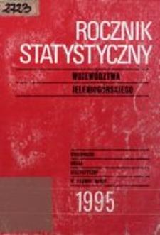 Rocznik Statystyczny Województwa Jeleniogórskiego, 1995, R. 18