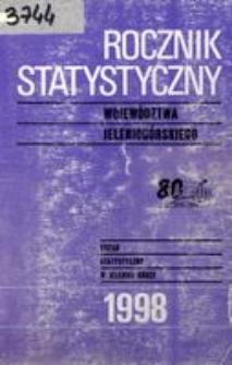 Rocznik Statystyczny Województwa Jeleniogórskiego, 1998, R. 21