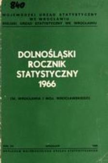 Dolnośląski Rocznik Statystyczny 1966 (M. Wrocławia i woj. wrocławskiego)