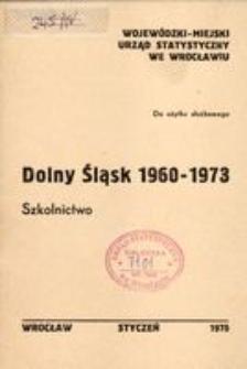Dolny Śląsk 1960-1973. Szkolnictwo