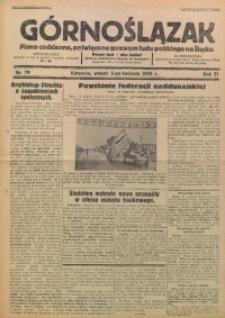 Górnoślązak, 1932, R. 31, Nr. 79
