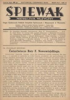 Śpiewak, 1935, R. 16, nr 6
