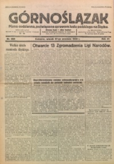 Górnoślązak, 1932, R. 31, Nr. 223