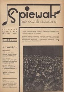Śpiewak, 1936, R. 17, nr 3