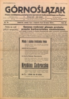 Górnoślązak, 1933, R. 32, Nr. 76