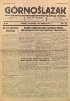Górnoślązak, 1933, R. 32, Nr. 84