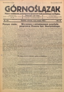 Górnoślązak, 1933, R. 32, Nr. 176