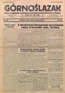 Górnoślązak, 1933, R. 32, Nr. 218