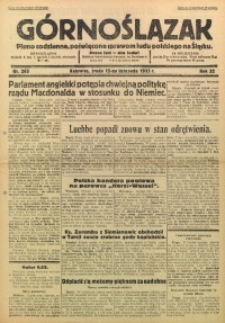 Górnoślązak, 1933, R. 32, Nr. 263