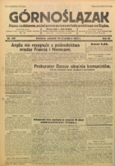 Górnoślązak, 1933, R. 32, Nr. 287