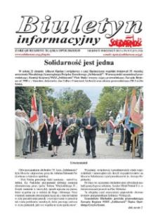 """Biuletyn Informacyjny """"Solidarność"""" 2015, nr 8-9 (375-376)."""