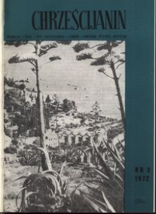 Chrześcijanin, 1972, nr 3