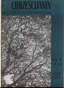 Chrześcijanin, 1972, nr 4