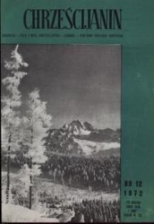 Chrześcijanin, 1972, nr 12