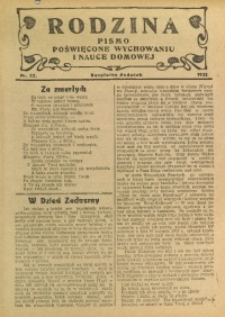 Rodzina, 1932, nr 22
